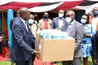Governor Ongwae receives donated PPEs from Equity Group